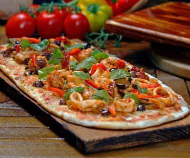 le Vesuvio Pizza Close Up